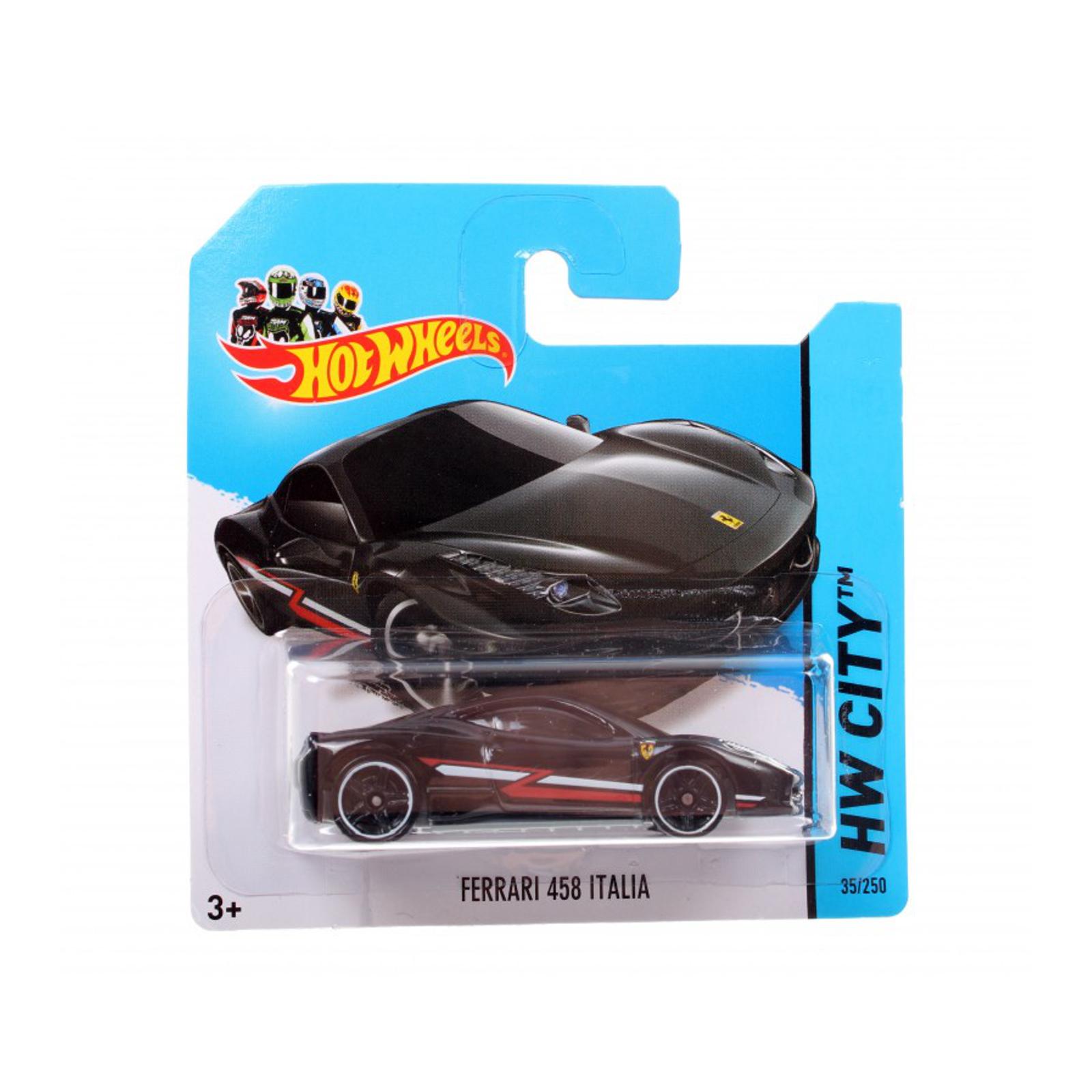 Мотогонщики Hot Wheels для треков Ferrari 458 Italia