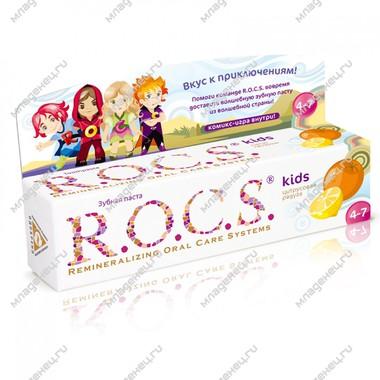 Зубная паста R.O.C.S. Baby 45 мл Лимон, апельсин и ваниль с 4 лет.