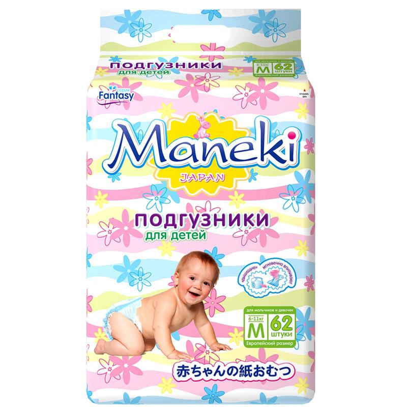 Подгузники Maneki Fantasy 6-11 кг (62 шт) Размер M<br>