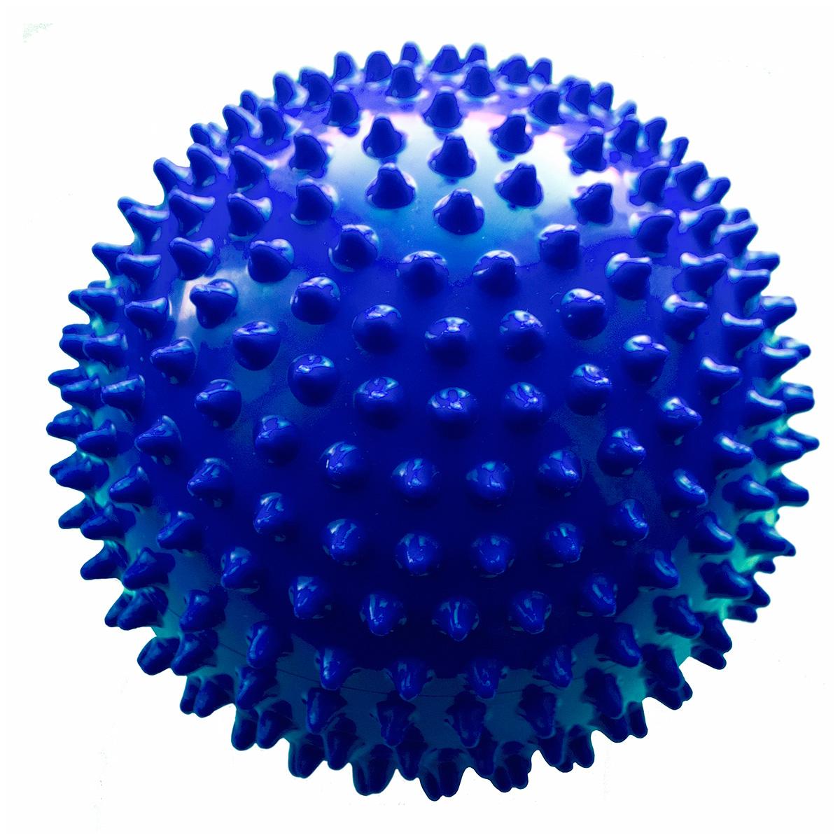 Мяч ежик МалышОК 18 см (сетка) синий<br>