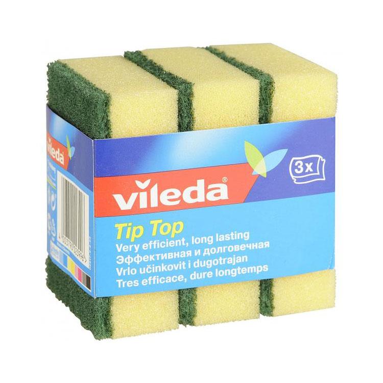 Губка Vileda Tip Top (классическая) 3 шт<br>