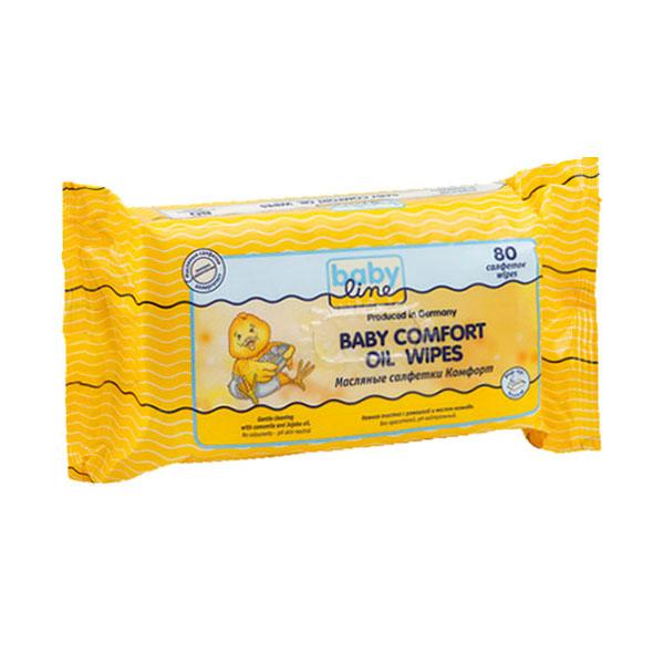 Салфетки влажные Babyline Comfort масляные 80 шт<br>