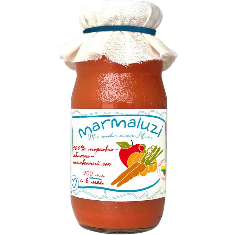 Сок Marmaluzi 200 мл Морковь яблоко тыква (с 6 мес)