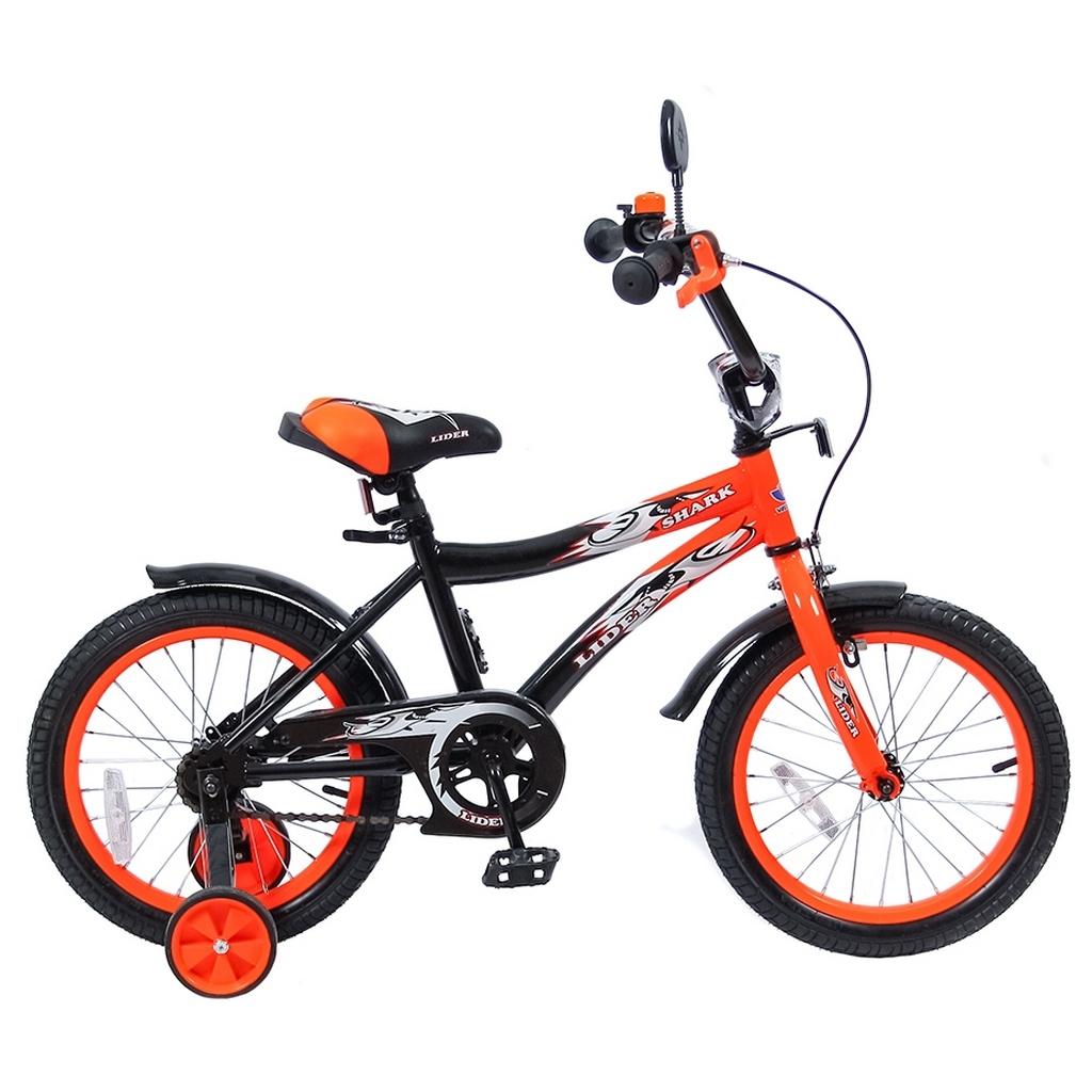 Велосипед двухколесный Velolider 16 Lider Shark 16A-1687 Оранжевый/Черный<br>