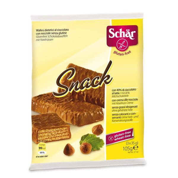 Вафли Dr. Schar В шоколаде с орехами Snack 105 гр (3 шт)<br>