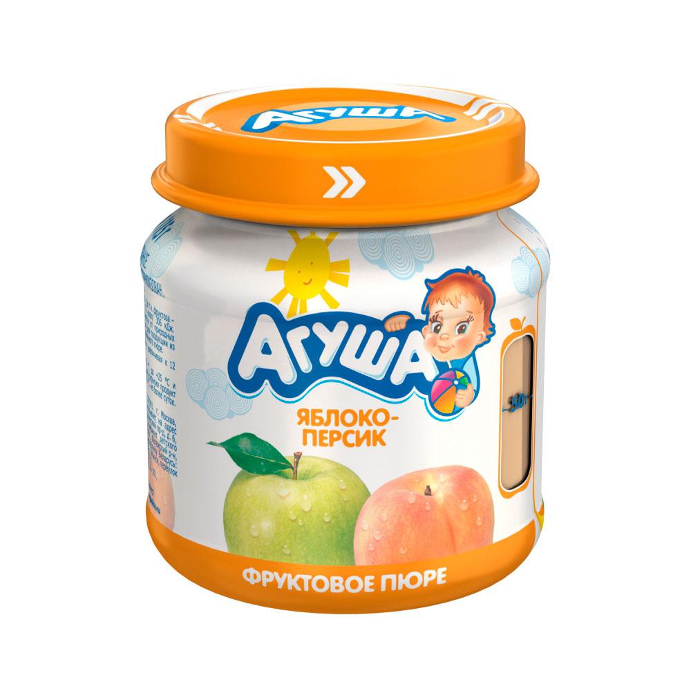 Пюре Агуша фруктовое 115 гр Яблоко персик (с 6 мес)<br>