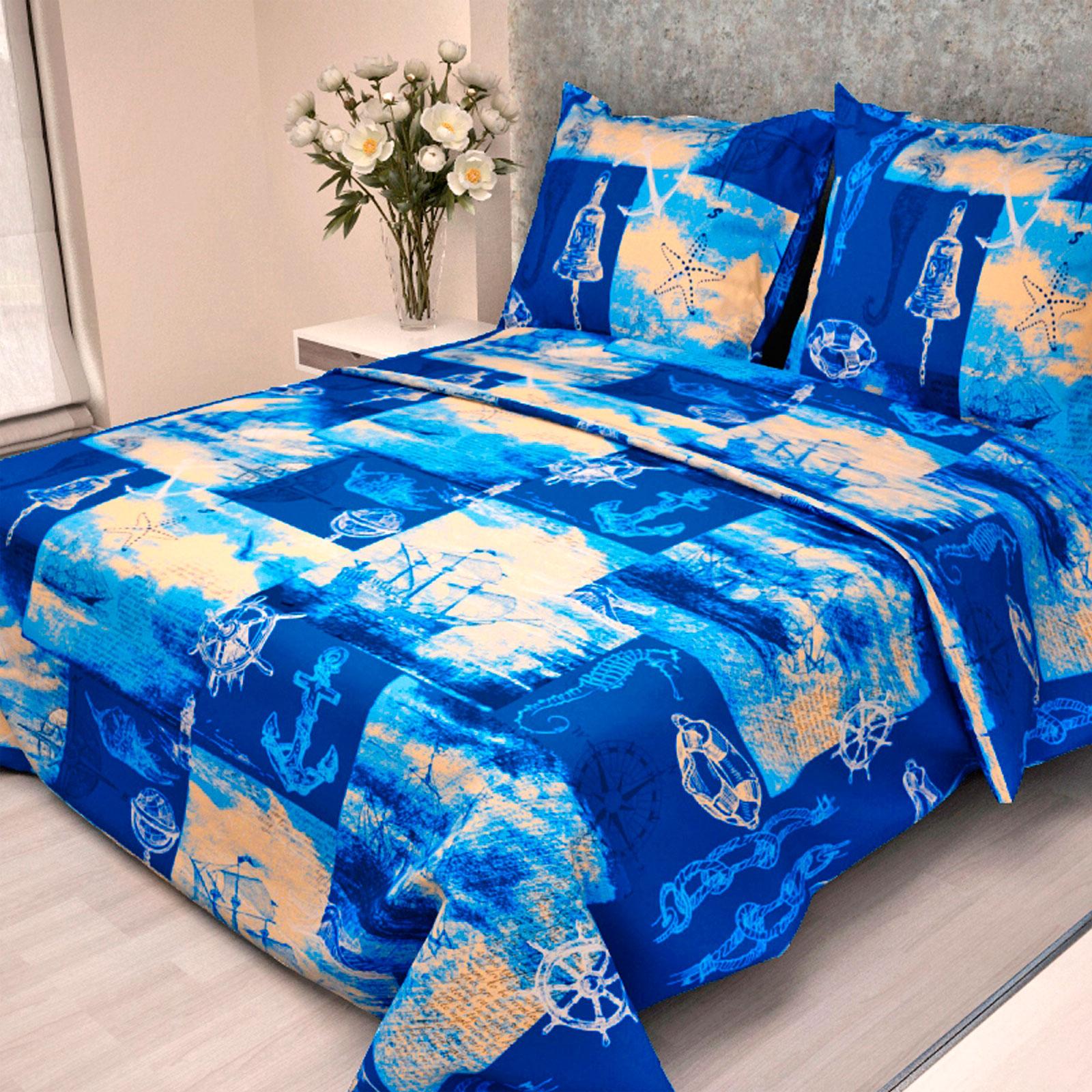 Комплект постельного белья детский Letto с наволочкой 50х70 Кораблик<br>