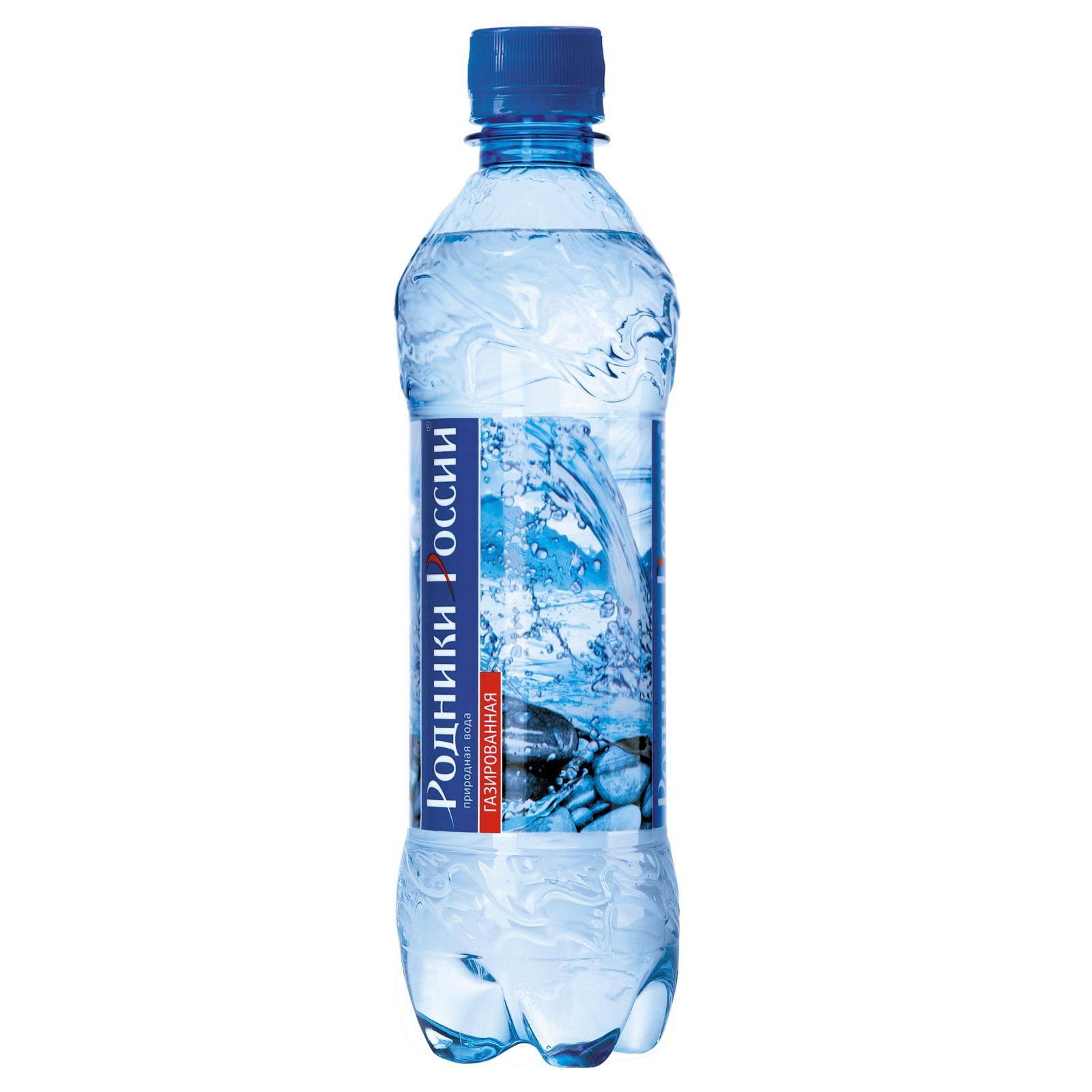Вода минеральная Родники России 1,5 л Газированная