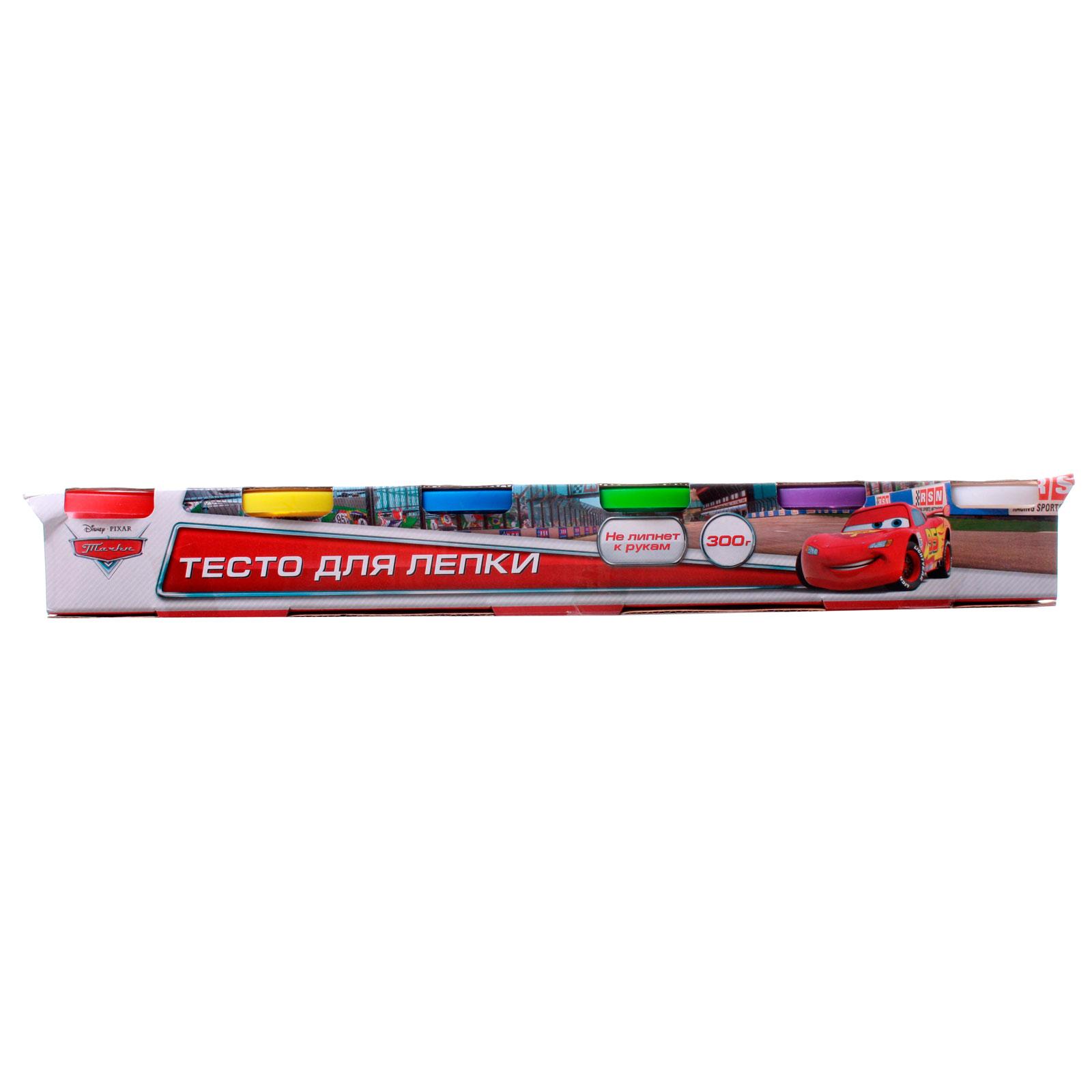 Набор Multiart Тесто для лепки Disney Тачки 6 цветов х 50 грамм<br>