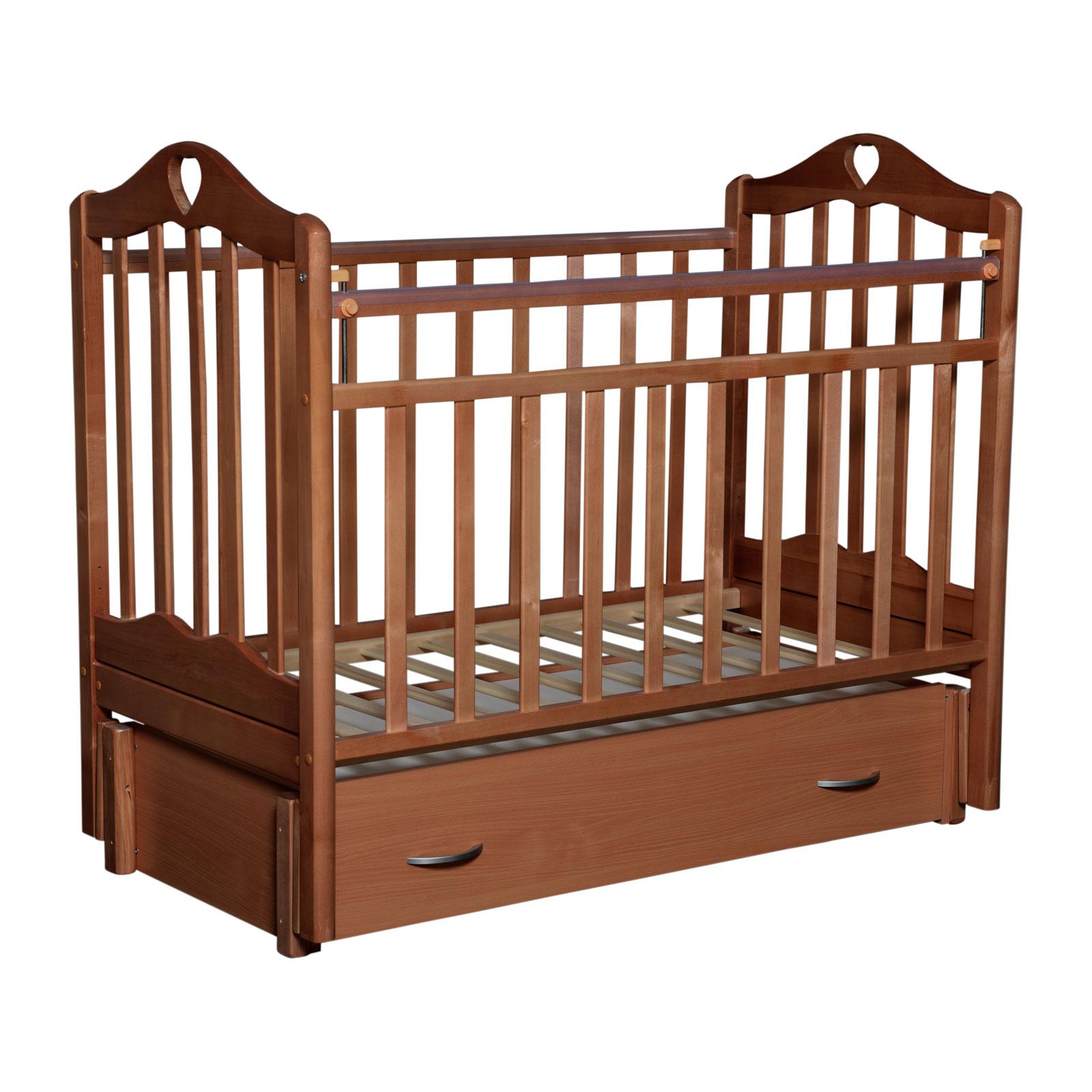 Кроватка Антел Каролина-6 Орех<br>