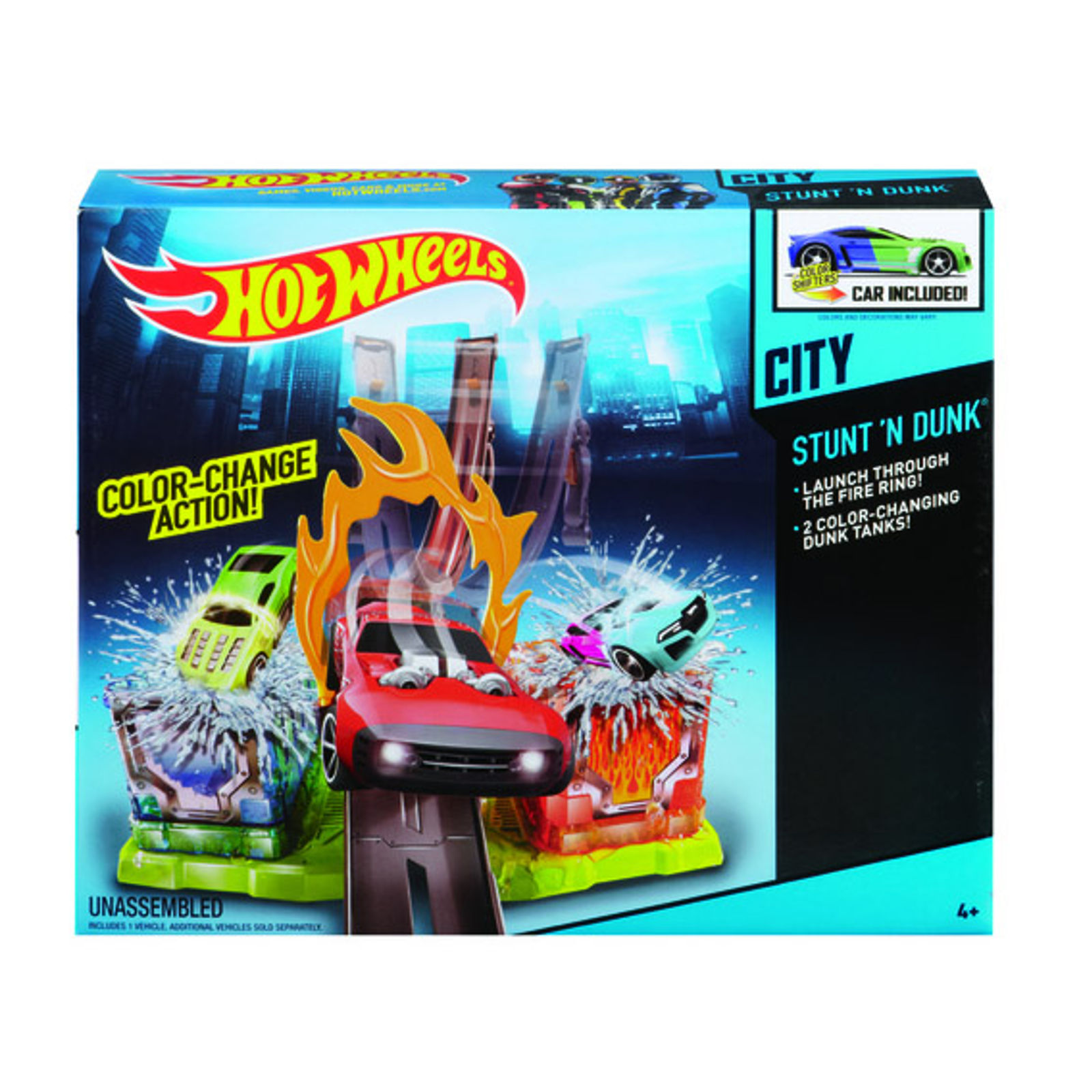������� ����� Hot Wheels �������� ������ ����� Color Shifters Stunt'n Dunk