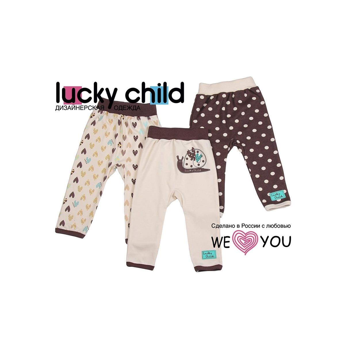 Комплект штанишки Lucky Child Улитки (3 шт) рост 92 от Младенец.ru