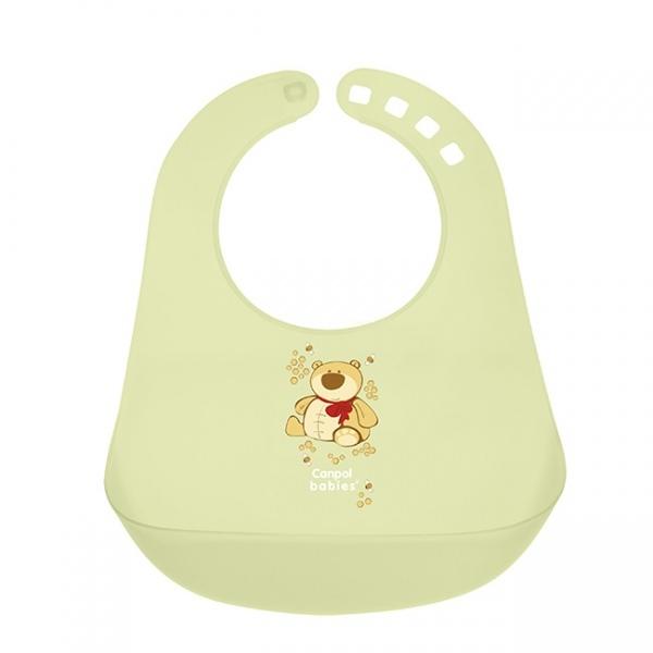 Нагрудник Canpol Babies с кармашком зеленый (с 12 мес)<br>