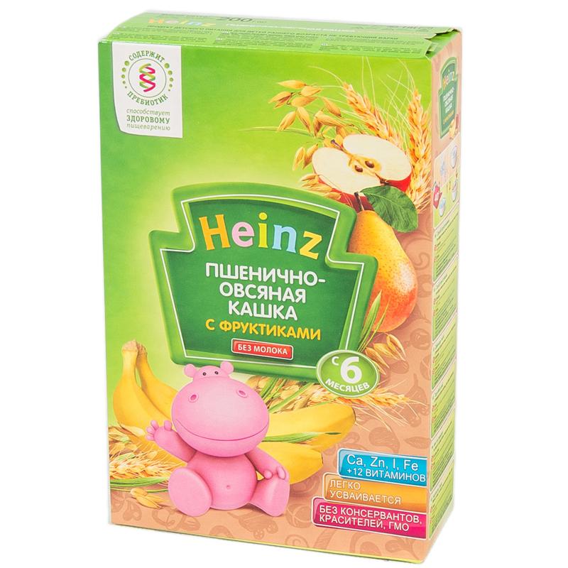 Каша Heinz безмолочная 200 гр Пшенично-овсяная с фруктами (с 6 мес)<br>