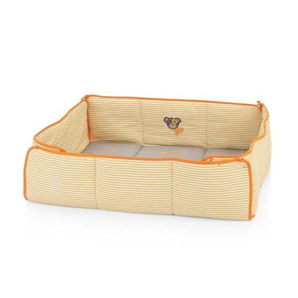 Подушка для квадратного манежа Kettler 80х80х2 см Серо оранжевая полоска