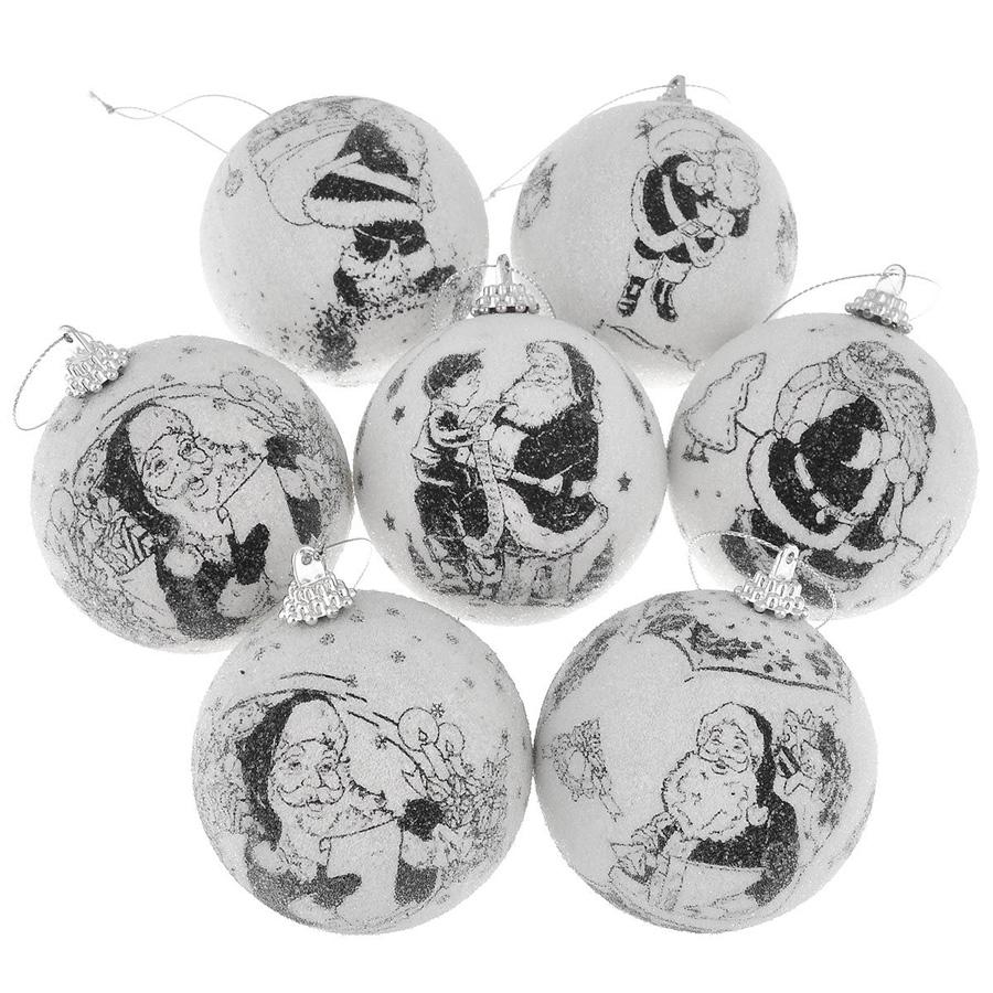 Набор шаров Winter Wings фрости Новогодние комиксы 7.5 см 7 штук в подарочной коробке (дизайн №2)<br>