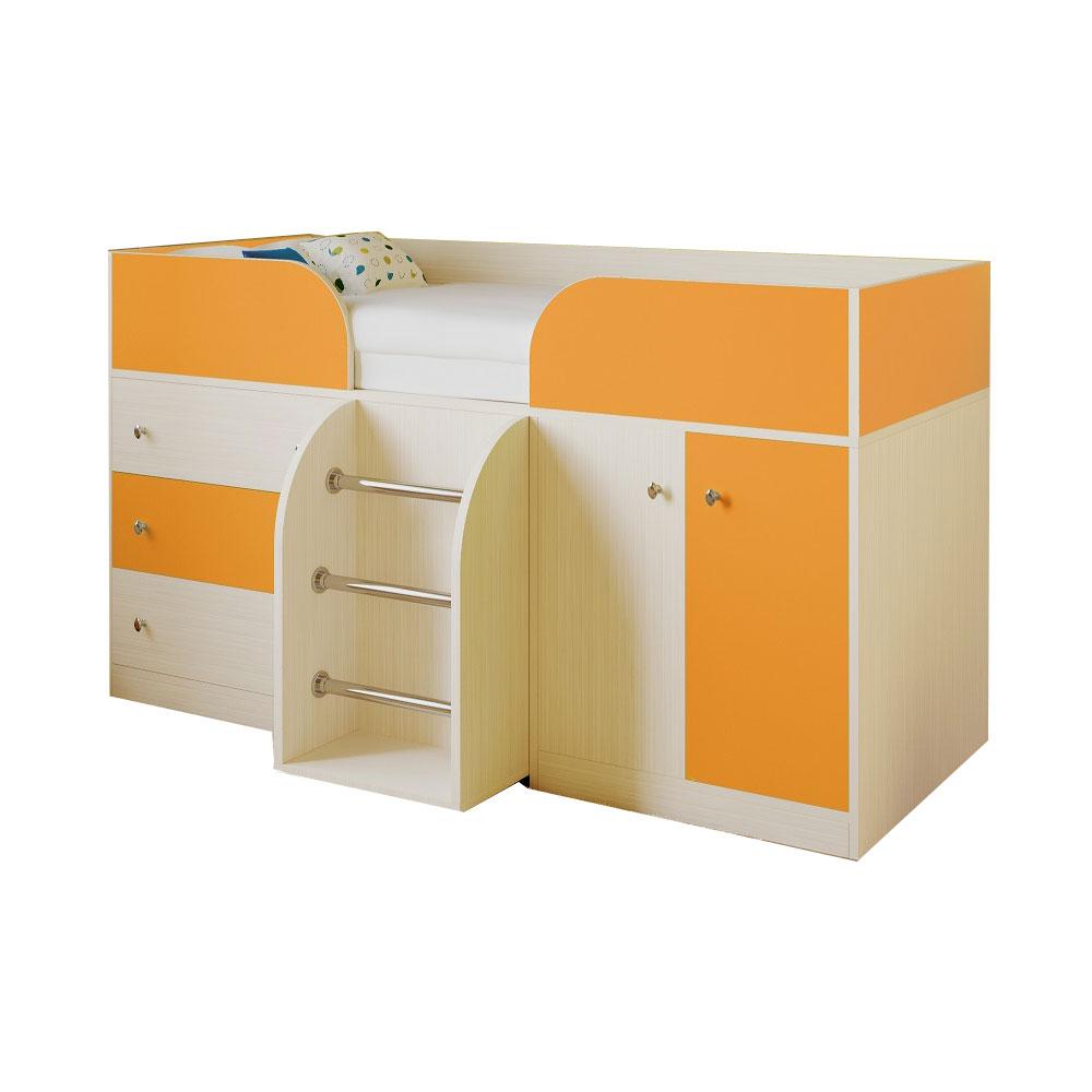 Набор мебели РВ-Мебель Астра 5 Дуб молочный/Оранжевый<br>