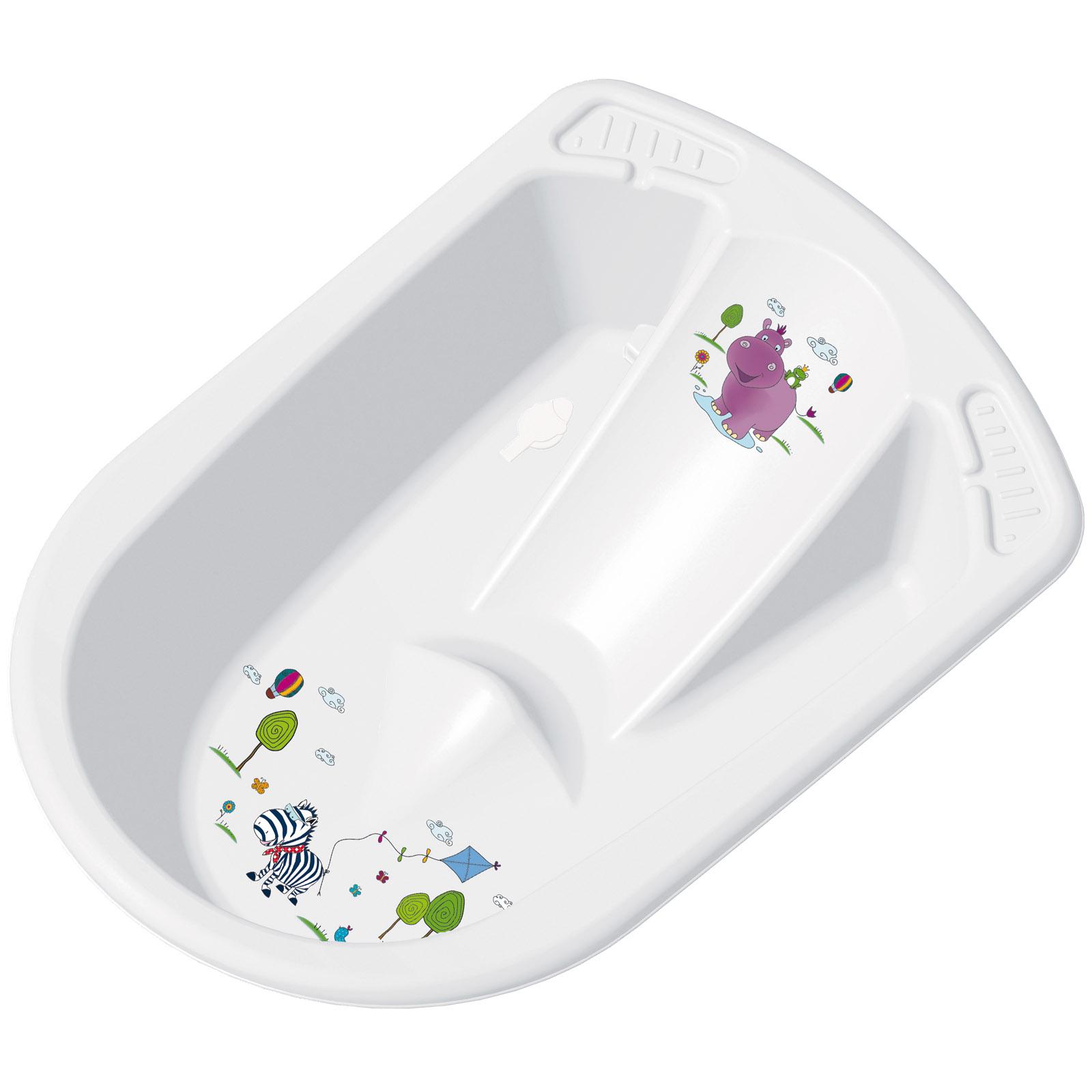 Ванна анатомическая ОКТ Hippo со сливом цвет - белый<br>
