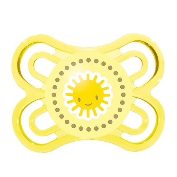 Пустышка MAM Perfect Силиконовая (0-6 мес) желтая (солнышко)<br>