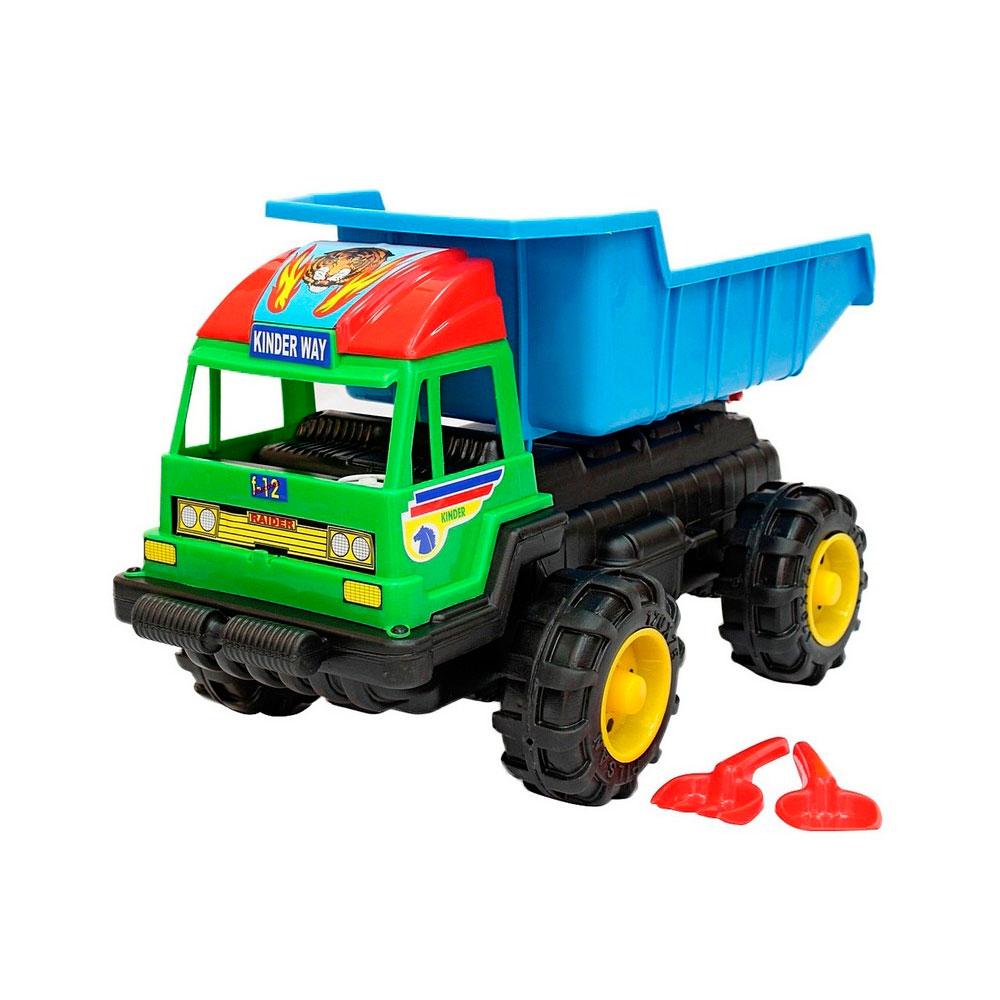 Машина большая RT высокая МАХ 08-803 Лопата и грабли Синий с зеленым<br>
