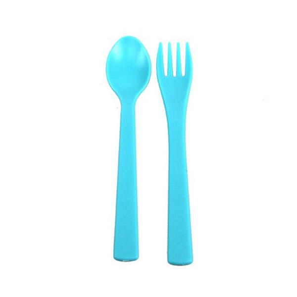 Набор UINLUI для кормления Ложка и вилка (голубой)<br>