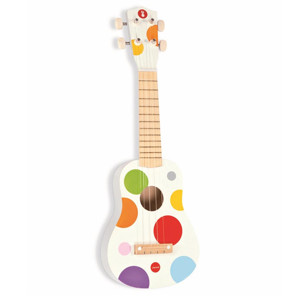 Игрушка Janod Гитара гавайская белая<br>