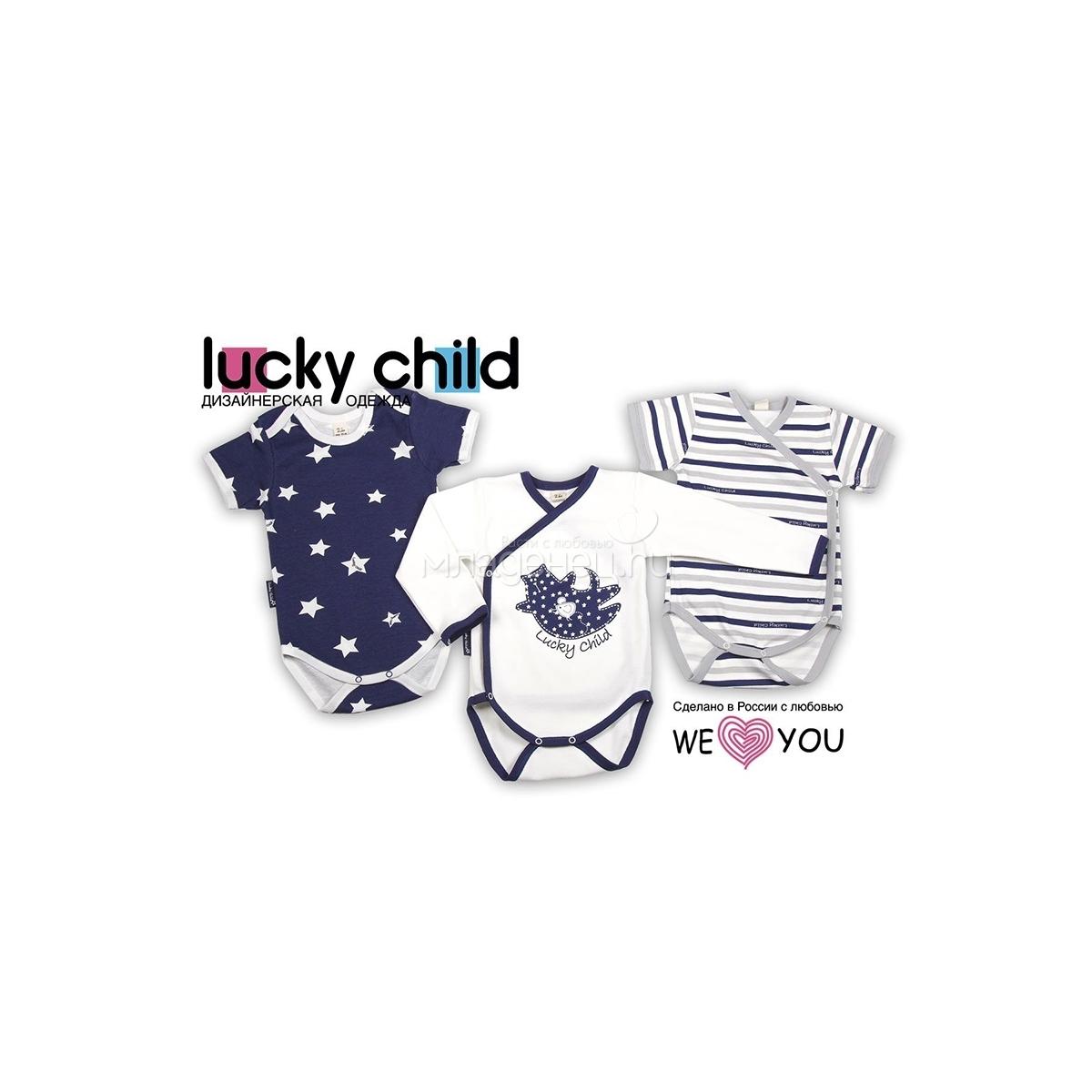Комплект боди с коротким рукавом Lucky Child Котики (3 шт) рост 62<br>