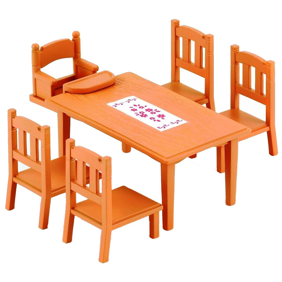 Мебель и аксессуары Sylvanian Families Обеденный стол с 5-ю стульями<br>