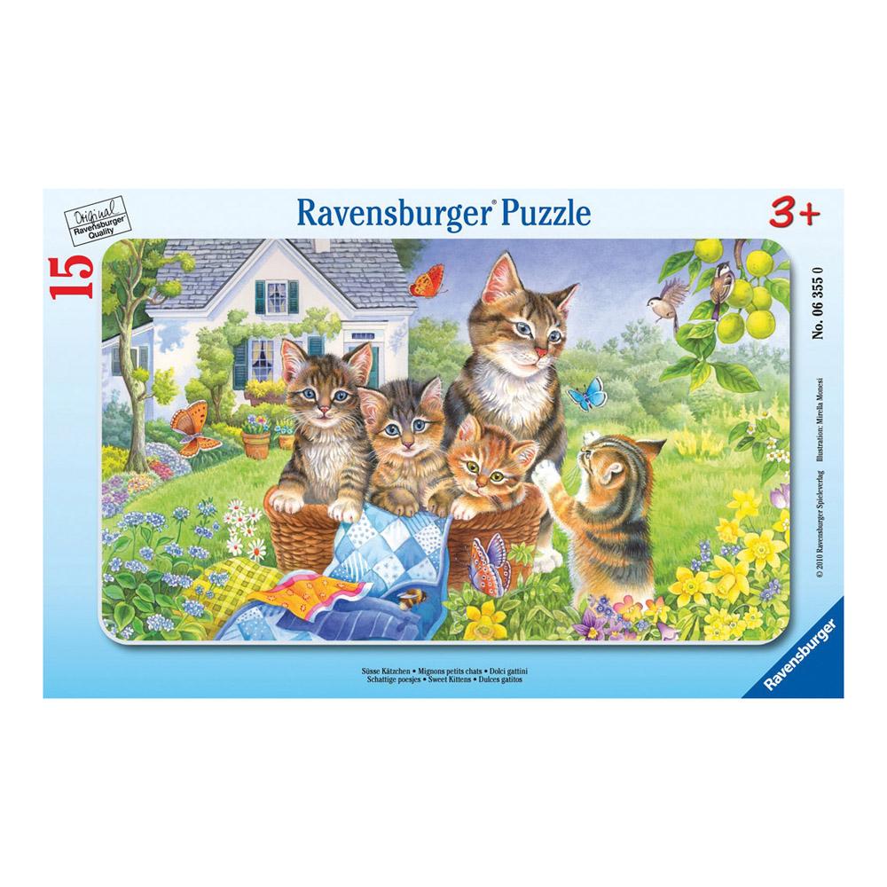 Пазл Ravensburger Кошкин дом 15 эл.<br>