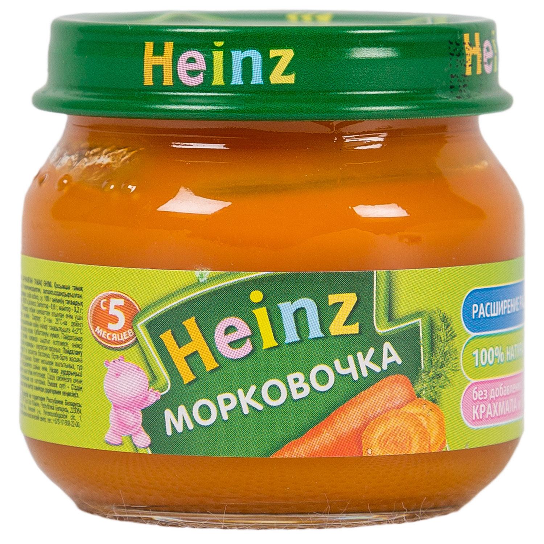 Пюре Heinz овощное 80 гр Морковка (с 5 мес)<br>
