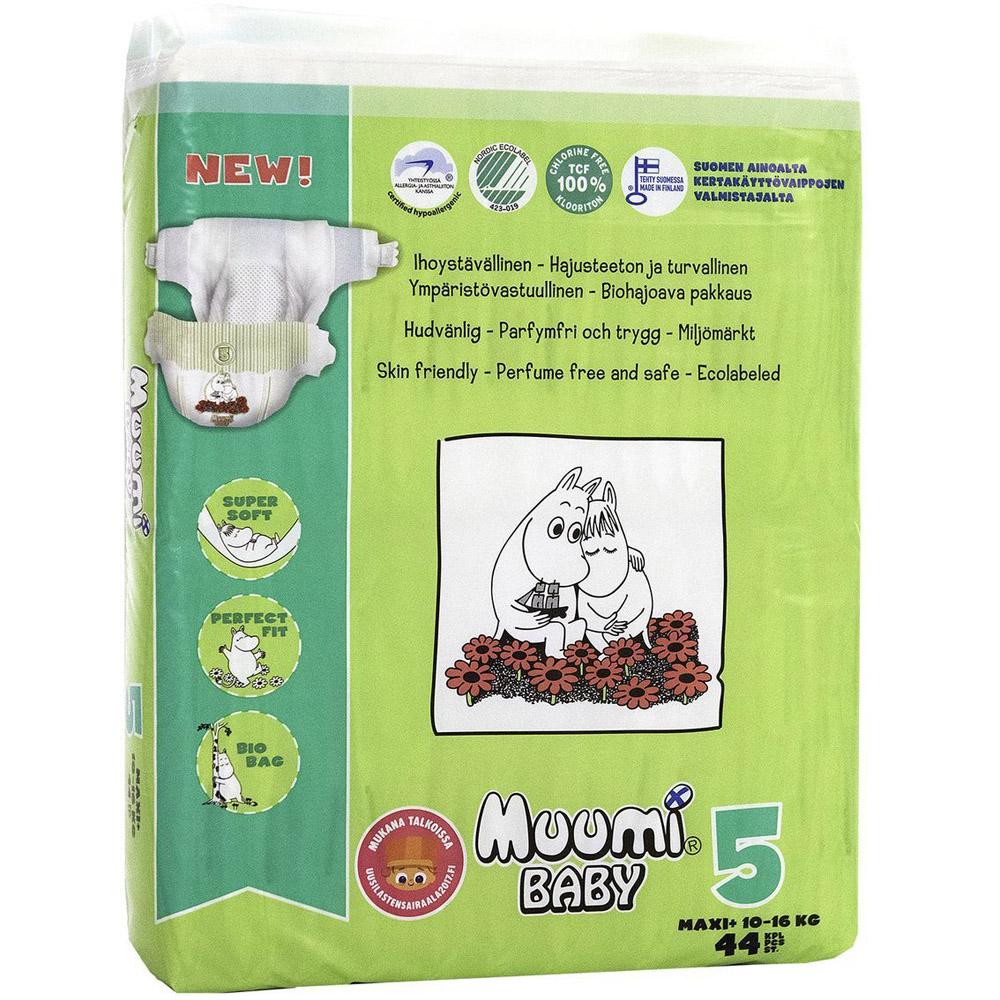 Подгузники Muumi Baby Maxi+ 10-16 кг (44 шт) Размер 5<br>