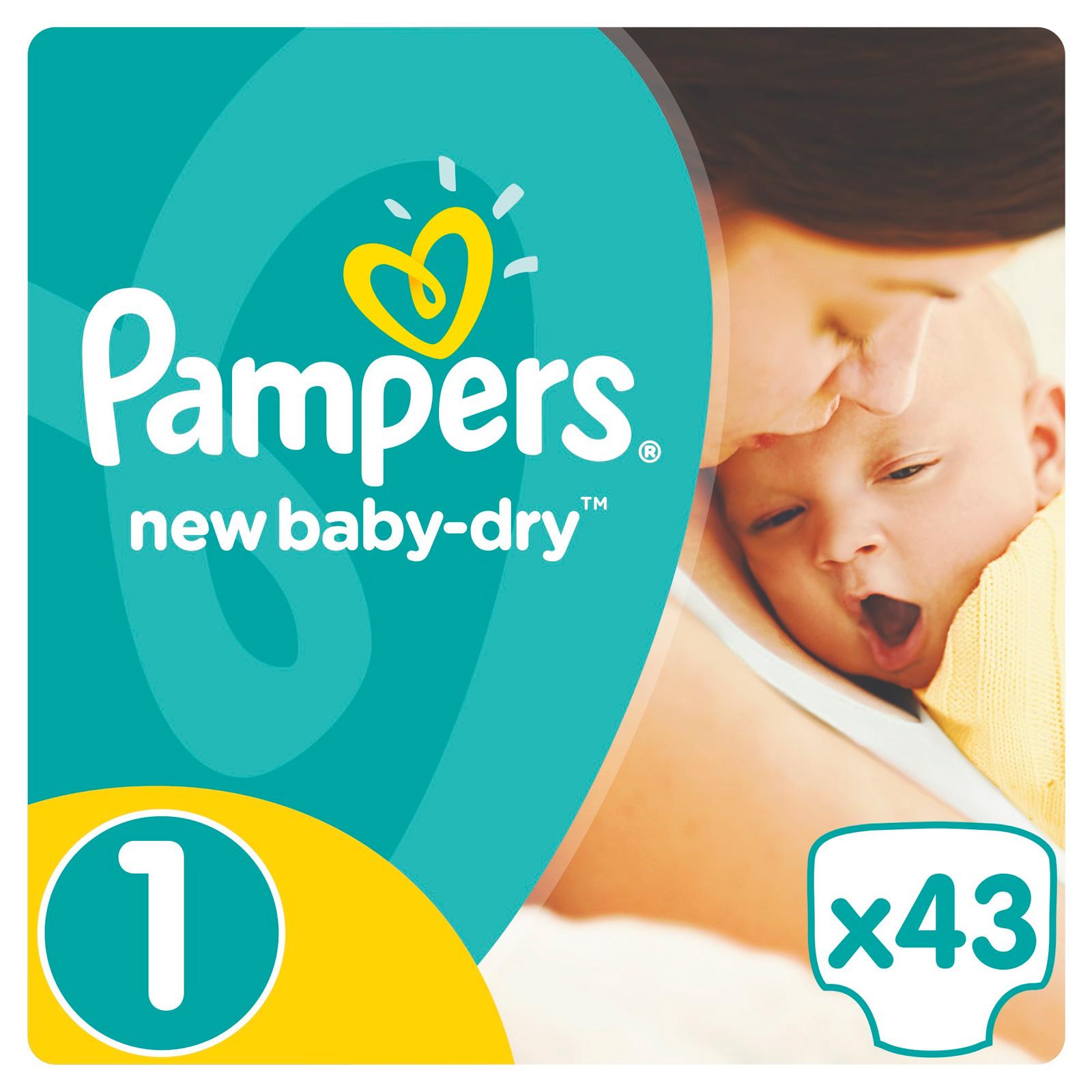 Подгузники Pampers New Baby Newborn 2-5 кг (43 шт) Размер 1<br>