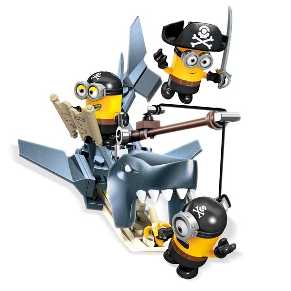 Игровой набор Mega Bloks Миньоны Игровои набор Закуска акулы<br>