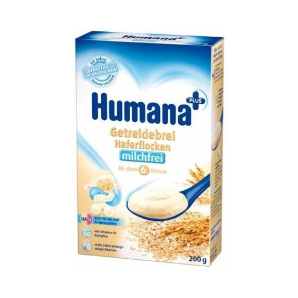 Каша Humana безмолочная 200 гр Овсяная (с 6 мес)
