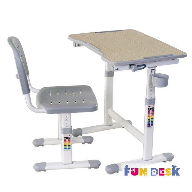 Набор мебели FunDesk PICCOLINO II парта и стул Grey<br>