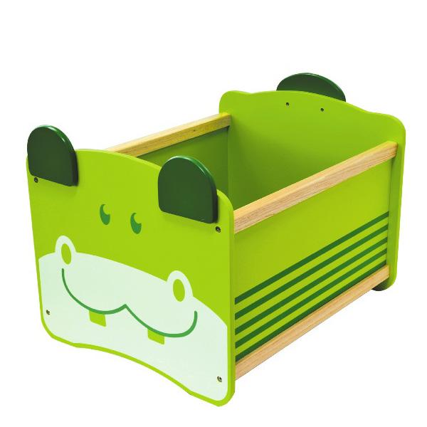 Ящик для игрушек I`m Toy Бегемот зелёный<br>