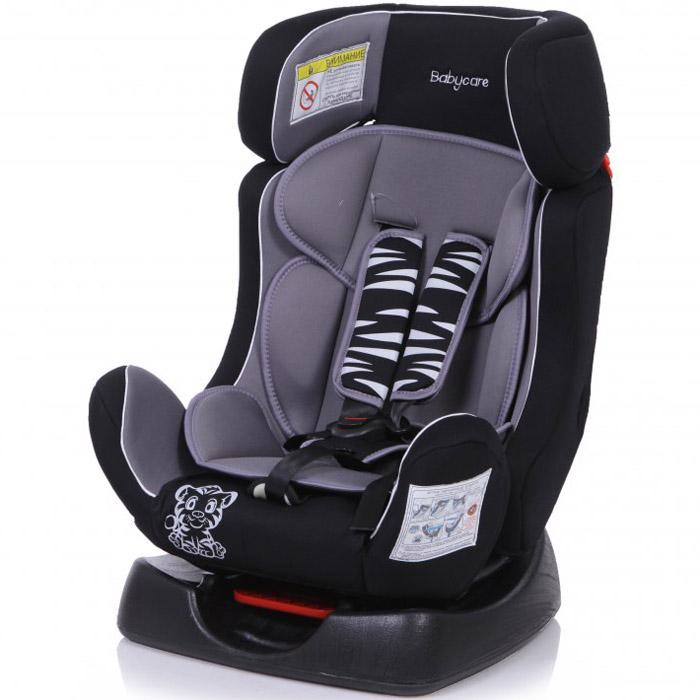 Детское автомобильное кресло Baby Care BC-719 Люкс Тигрёнок Серое<br>