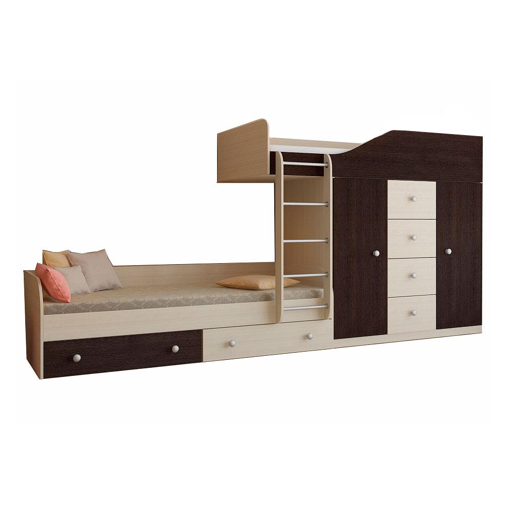 Набор мебели РВ-Мебель Астра 6 Дуб молочный/Венге<br>