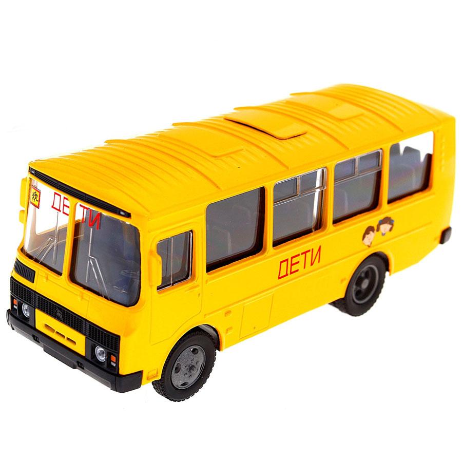 Машинка Autotime ПАЗ-32053 школьный автобус 1:43<br>