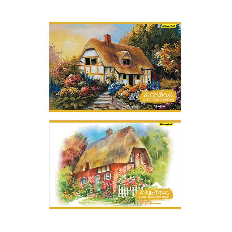 Альбом для рисования Silwerhof 40 листов Волшебный домик 2 дизайна<br>