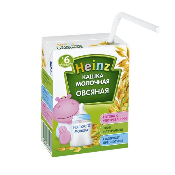 Каша Heinz молочная 200 мл (готовая) Овсяная (с 6 мес)<br>