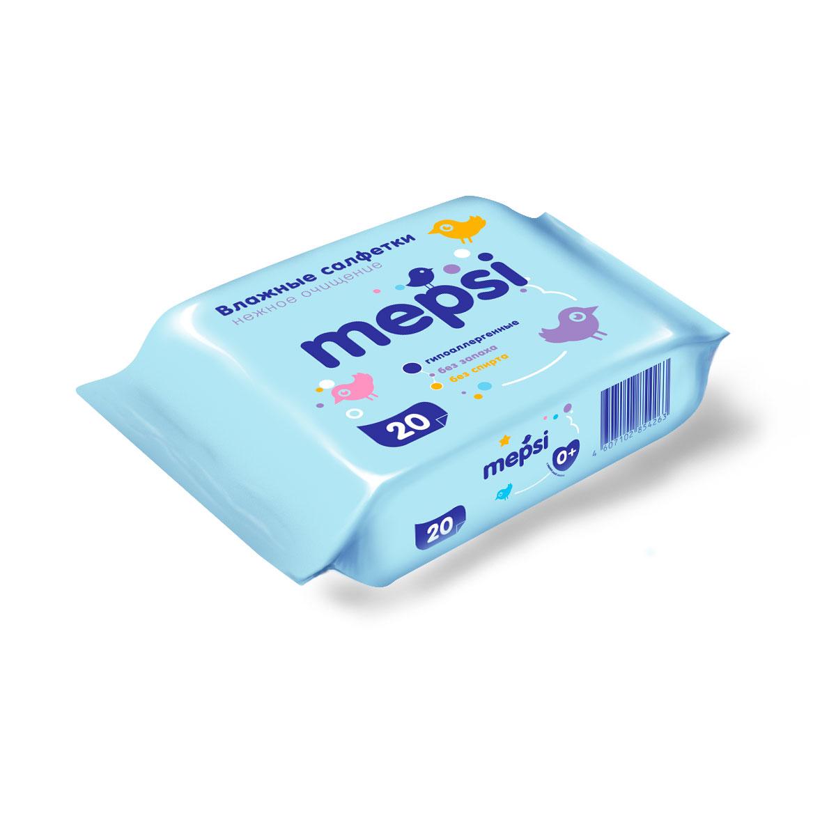 Салфетки влажные Mepsi 20 шт<br>