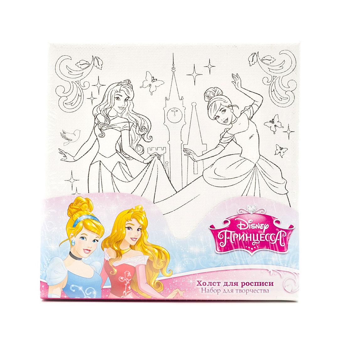 Холст для росписи Multiart Принцессы Disney Краски и кисточка в комплекте<br>