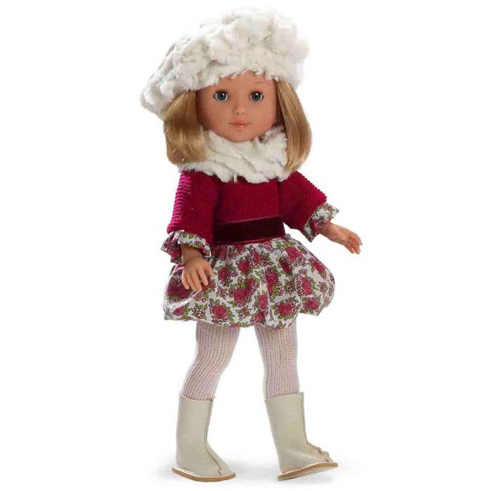 Кукла Arias 36 см В платье берете колготах сапожках<br>