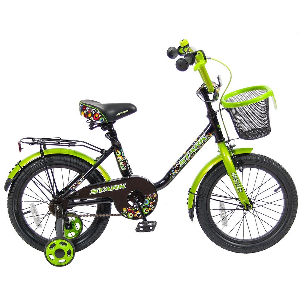 Велосипед двухколесный VeloLider 16 Lider Stark 16U-009 Черный/Зеленый<br>