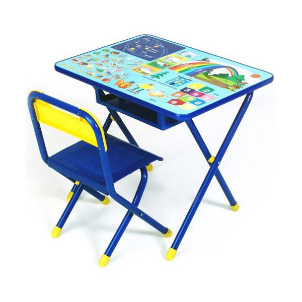Набор мебели стол и стул Дэми №1 Синий Радуга<br>
