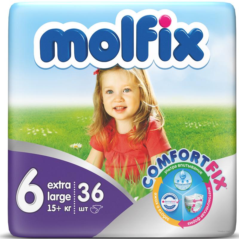 Подгузники Molfix Comfort Fix Extra Large 15+ кг. (36 шт.) Размер 6<br>