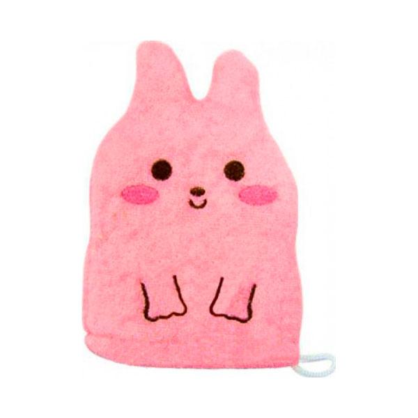 Рукавичка для мытья тела Kokubо Furocco Розовый Кролик