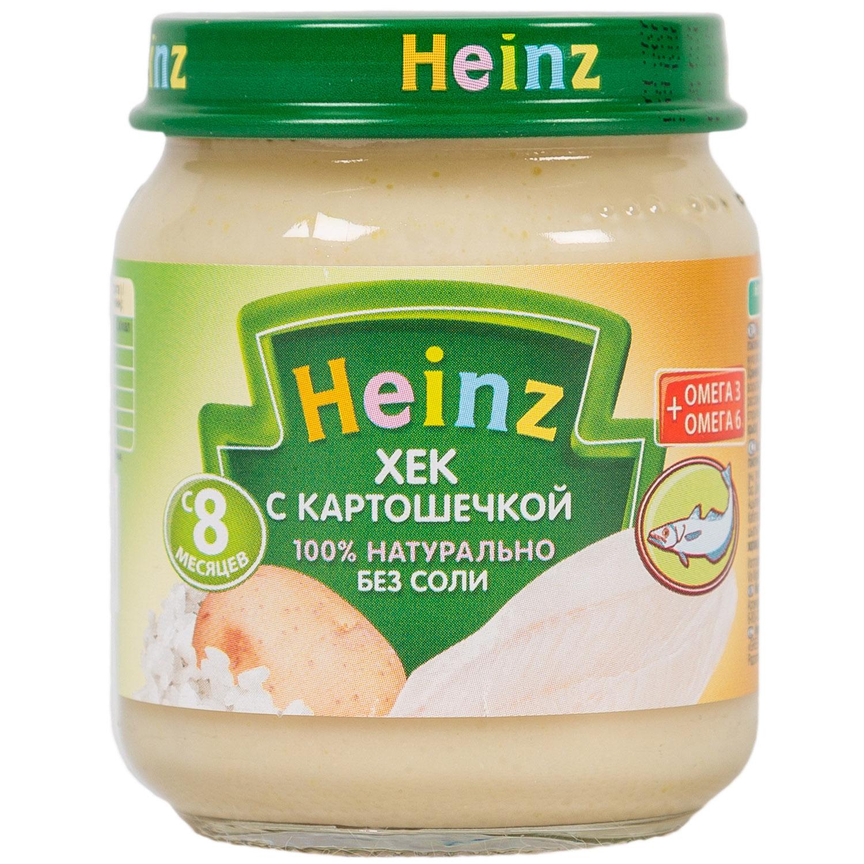 Пюре Heinz рыбное с овощами 120 гр Хек с картофелем (с 8 мес)<br>