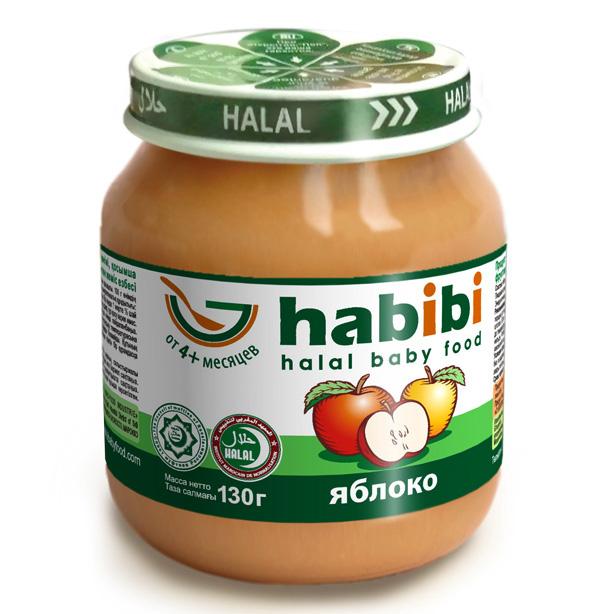 Пюре Habibi фруктовое 130 гр Яблоко (с 4 мес)